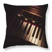 The Vintage Music Hall Throw Pillow