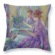 The Violet Kimono 1911 Throw Pillow