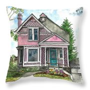 The Violet Lady In Spring Throw Pillow