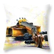 The Violin Throw Pillow