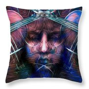 The Violinist Dual Tone   Throw Pillow