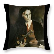 The Violinist John Murray Throw Pillow