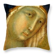 The Virgin And Child On A Throne Fragment 1311 Throw Pillow