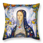 The Virgin,  Joseph Stella Throw Pillow