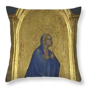 The Virgin   Left Pinnacle Panel Throw Pillow