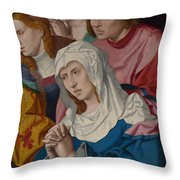 The Virgin Saints And A Holy Woman Throw Pillow