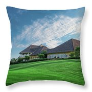 The Virtues Golf Course Clubhouse Throw Pillow
