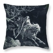 The Vision Of Death Throw Pillow