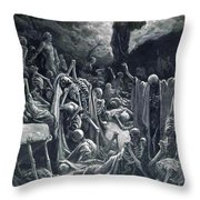 The Vision Of The Valley Of Dry Bones 1866 Throw Pillow