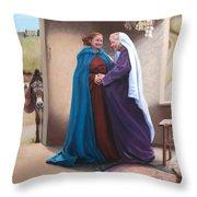 The Visitation Throw Pillow