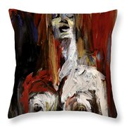 The Vocalist Throw Pillow