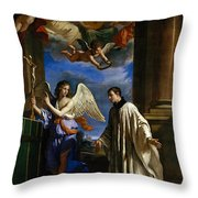 The Vocation Of Saint Aloysius Gonzaga Throw Pillow