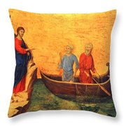The Vocation Of The Apostle Peter Fragment 1311 Throw Pillow