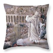 The Voice From Heaven Throw Pillow