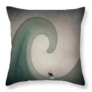 The Voyage Of The James Caird. Throw Pillow