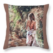 The Wader Throw Pillow