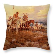 The Wagons Throw Pillow