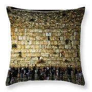 The Wailing Wall - Jerusalem  Throw Pillow