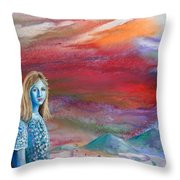 The Waiting Throw Pillow