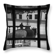 The Waiting Room Throw Pillow