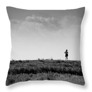 The Walk Or Sniff ? Throw Pillow