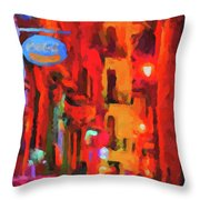 The Walkabouts - Spanish Red Moon Stroll Throw Pillow