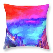 The Walkabouts - Sunset In Chinatown Throw Pillow