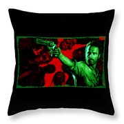 The Walking Red Throw Pillow