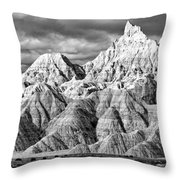 The Wall Black And White Throw Pillow