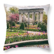 The Walled Garden Throw Pillow