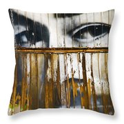 The Walls Have Eyes Throw Pillow