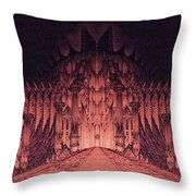 The Walls Of Barad Dur Throw Pillow