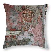 The Walls Of Venice Throw Pillow