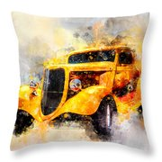 The Wanderer Watercolor Throw Pillow