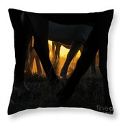 The Wandering Few Throw Pillow by Nicole Markmann Nelson