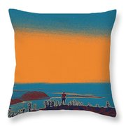 The Wandering Youth Throw Pillow