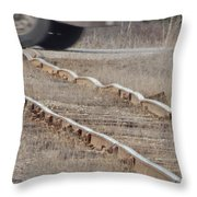 The Warped Railroad Throw Pillow