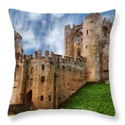 The Warwick Castle Throw Pillow