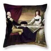 The Washington Family Throw Pillow