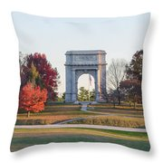 The Washington Memorial At Valley Forge Panorama Throw Pillow