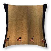 The Washington Monument In Washington Throw Pillow