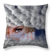 The Watcher Above Throw Pillow