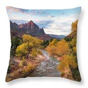 The Watchman At Sunrise Throw Pillow