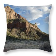 The Watchman Throw Pillow by Kenneth Hadlock