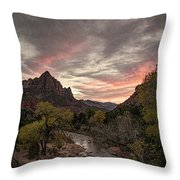 The Watchman Sunset Throw Pillow