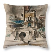 The Water Gate Throw Pillow