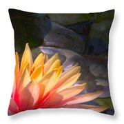 The Water Lily Throw Pillow