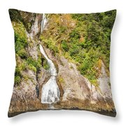 'the Water Of Life' Spring At Doubtful Sound Throw Pillow