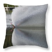 The  Water Skier Throw Pillow
