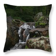 The Water Splashes On Throw Pillow